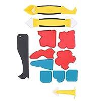 コーキングフィニッシャーキット、プロ仕様の多機能コーキングツール、Kithchen用の12個の再利用可能なバスルームドアウィンドウ