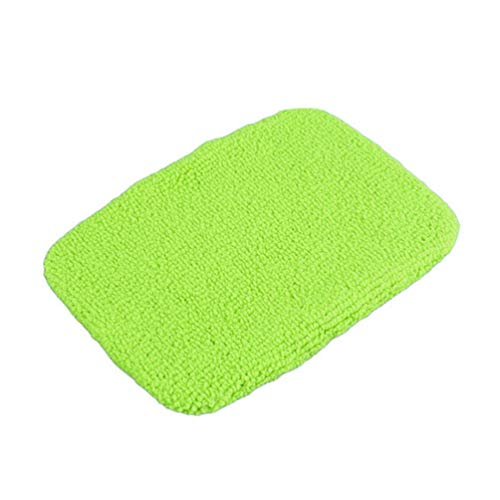 Car Care Replaced Microfiber Clothes for Silence Shopping Windshield Cleaning Brush Durable Buffing Pad Cover Washable Polishing Bonnet Green Pack of 5