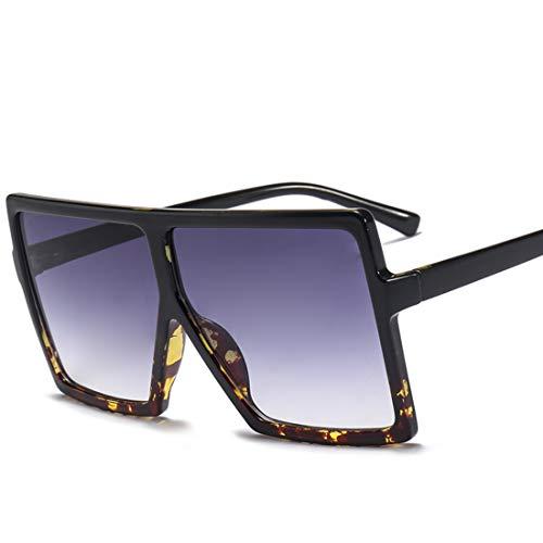 HFSKJ Gafas de Sol, Gafas de Sol con Montura Cuadrada Grande, Gafas de Sol para Mujer, Gafas de Sol de Moda para Todos los Partidos,B