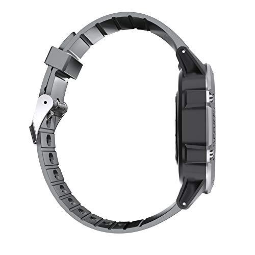 lalakabu Reloj inteligente para deportes al aire libre, natación, multifunción, frecuencia cardíaca, podómetro