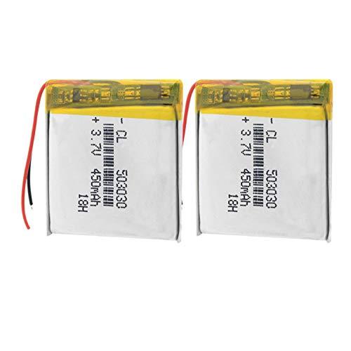 RFGTYH Batería de polímero 450mah 3.7V 503030 Altavoces de MP3 para el hogar Inteligente batería de Iones de Litio para dvr, GPS, mp3, mp4, Reloj Inteligente, luz LED de Altavoz 2Pcs