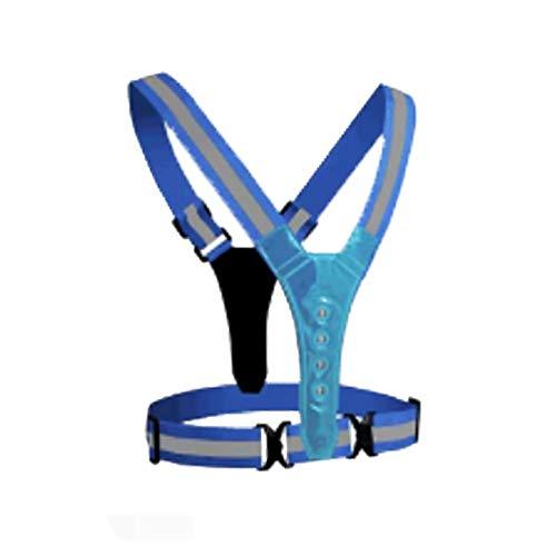 Chnrong Chaleco de seguridad de alta visibilidad de 360° con cinturón elástico ajustable, chaleco reflectante para hombres, mujeres, corredores, caminantes nocturnos, ciclistas, para correr, ciclismo