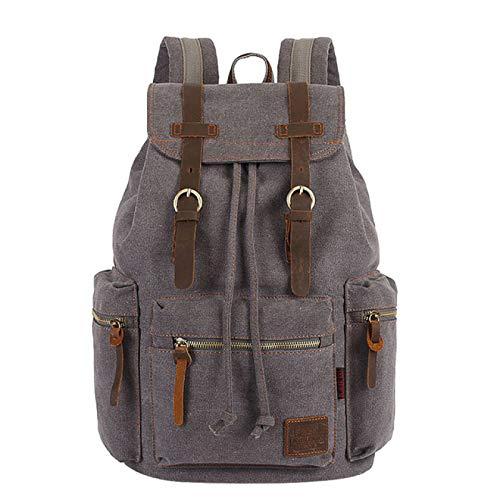 Mochilas de Lona Vintage Bolsas para Hombres y Mujeres Estudiantes de Viaje Casual para Senderismo Mochila de Viaje para Acampar