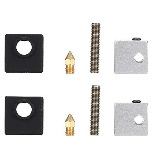 3D Printer Heating Block, 0.4mm Nozzle 3D Printer Nozzle, for MK8 Makerbot 3D Printer for Anet A8/Anet A2/A6 for 3D Printer