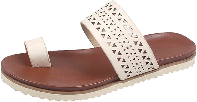 Women Flat Sandals, Lmtime Women's Clip Toe Flip Flops Slippers Casual Slip On Slide Sandals Shoes