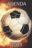 agenda 2021 fútbol: agenda 2021 semana vista - planificador semanal y mensual 2021 A5 - de enero a diciembre 21 - una Semana en dos Páginas - agenda...