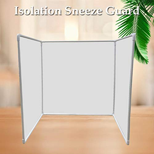 Alacritua Desktop Sneeze Guard Transmission Film, Desk Dividers Office Partition Desktop Privacy Panel for Student Call Centers/Offices/ibraries/Classrooms Frosted Acrylic Clamp