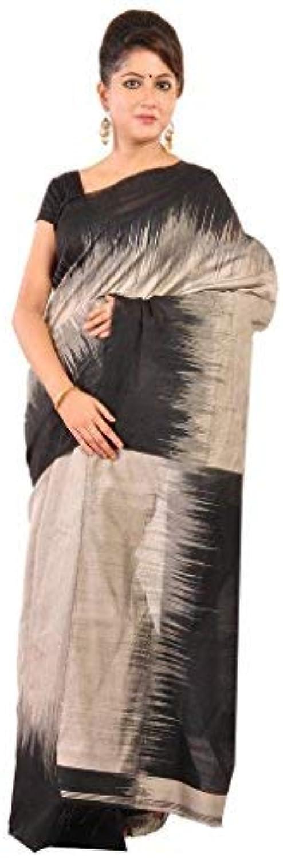Ruprekha Fashion Women's Cotton Silk Tie & Dye Handloom Saree