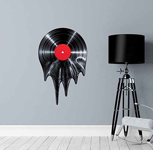 Melting Vinyl Record Decal Sticker