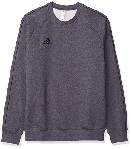 adidas Men's Core 18 Soccer Sweatshirt, Dark Grey Heather/Black, X-Large