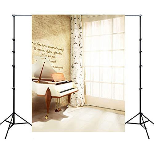 WQYRLJ Indoor Coulisse 6 × 10 Ft, piano gitaar trappen fotografie achtergrond volwassenen portret binnendecoratie fotosessie Studio rekwisieten video wallpaper B