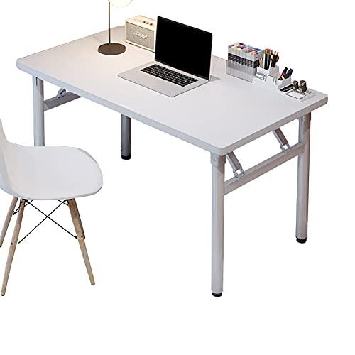 KMNN Escritorio Plegable - Escritorio Simple para Escribir y estudiar - Escritorio para computadora - Dormitorio para el hogar, Escritorio para Oficina - Mesa Plegable Multifuncional