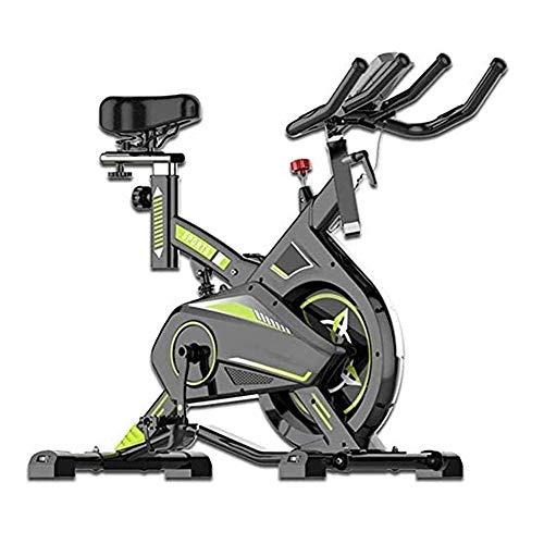 Inmóvil de la aptitud de también bicicletas, Cubierta De Pantalla bici electrónico LCD Lee Calorías Medidor de pulso, etc, manillar ajustable asiento de Resistencia, con rueda en movimiento portátil