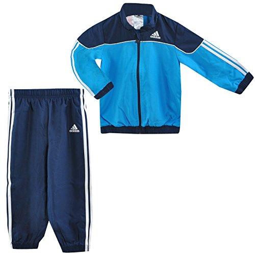 adidas 3S ESS Woven Kinder Baby Jogger Trainingsanzug Sport Anzug Hose BLAU 62, Farbe:Blau, Größe:62
