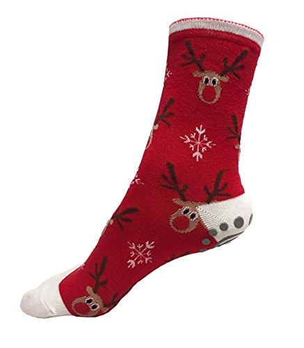Holiday Grip Non Slip Socks Pack of 4 by YogiSocks Skid Yoga Pilates Barre Bikram Hospital for Women