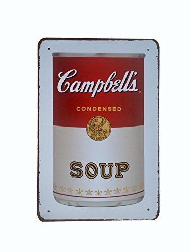 DiiliHiiri Cartel de Chapa Vintage Decoración, Letrero A4 Estilo Antiguo de metálico Retro - Campbells's Soup