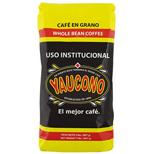 Yaucono Whole Bean Coffee in Bag, 2 Pound (Pack of 1)