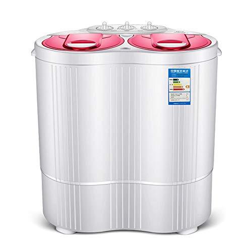 LK-HOME Mini Lavadora Lavadora Semiautomática De Doble Cubeta Y Cubeta De Deshidratación La Ropa De Limpieza Profunda No Daña La Ropa Adecuada para Apartamentos Y Hoteles,Rosado