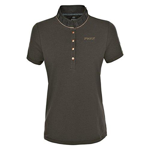 PIKEUR Damen-Premium-Polo-Shirt SAKINA, military, 36
