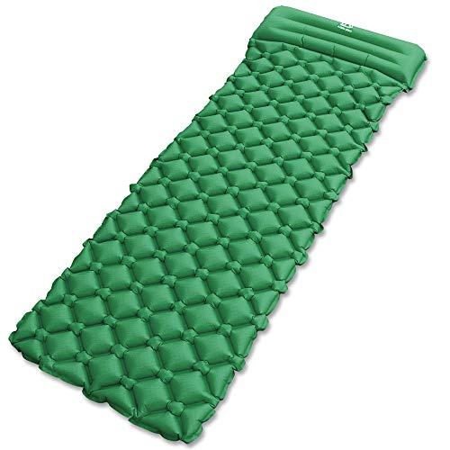 エア-マット キャンピングマット テントマット KOOLSEN エアーベッド 超軽量型 耐水加工 アウトドア 寝袋 ...