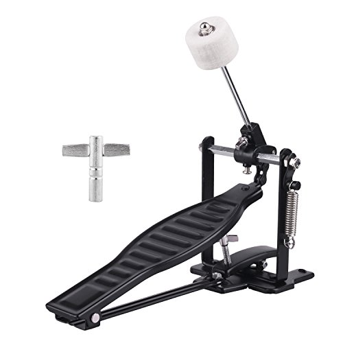 top rated Drum Pedal Black Aluminum Alloy Child Stand with Drum Pedal, Stick and Drum Key 2020