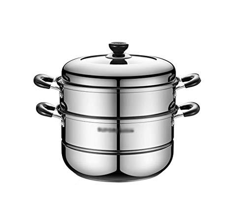 Dampfgarer, 26cm Durchmesser elektrische Dampfer for inländische Truthahn und Lachs Kochen dampfenden Topf-Reis Kochen (Color : Silver, Size : 26CM)