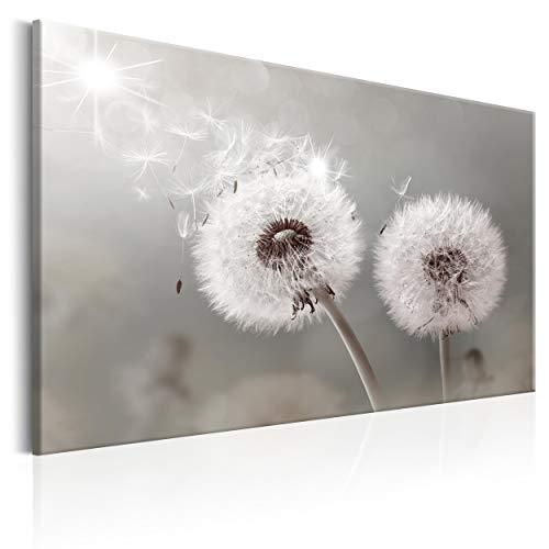 decomonkey Bilder Pusteblume Blumen 120x80 cm 1 Teilig Leinwandbilder Bild auf Leinwand Vlies Wandbild Kunstdruck Wanddeko Wand Wohnzimmer Wanddekoration Deko Wanddeko Pflanzen