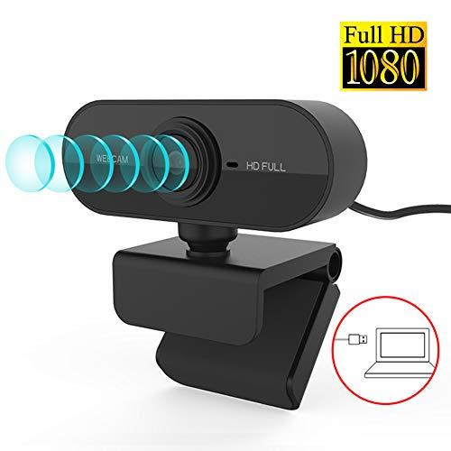 XIA Webcam 1080P Full HD Webcam, Con Microphone USB Plug Webcam para PC Laptop Desktop