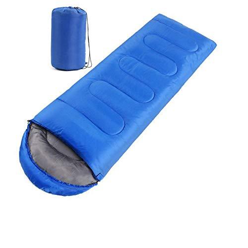 Sac de Couchage extérieur Ultra-léger pour Adulte, Sac de Couchage pour Camping, Ceinture Froide, Bleu Royal 1.0 kg