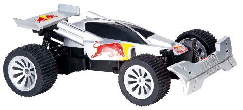 Carrera RC - 162026 - Radio Commande - Véhicule Miniature - Red Bull Buggy - Argent