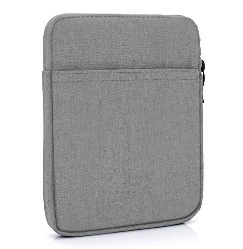 """MyGadget Bolsa de Nylon de 8"""" para E-Reader/E-Book/Smartphone - Estuche Alcochado para Amazon Kindle Paperwhite/Voyage/Oasis/Kobo - Gris"""