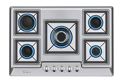 Empava 30' Stainless Steel 5 Italy Sabaf Burners Stove Top Gas Cooktop...