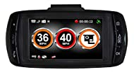 Aguri DX1000 Dash Cam and GPS speed trap detector. Designed to alert to all types of speed traps including HADECS3 SMART motorway cameras, Gatso, Truvelo, SPECs average speed cameras plus thousands of locations where mobile speed traps are police cam...