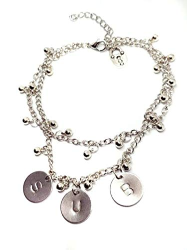 TANAMI Anklets Supplies for Ankle Bracelet Dom Fetish Cuckold Kink Double Bead Chain Padlock Unique Anklet Great for DIY Jewelry Gift for Women Girls