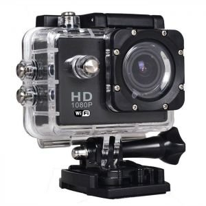 BEST SHOPPER 12MP Full HD 1080P Helmet Sports Action Waterproof Car Camera WiFi Camcorder - Black