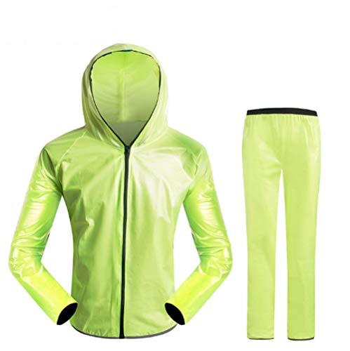 Mitef Regenjacke für Damen und Herren, wasserdicht, Regenjacke, modischer Regenmantel für Radfahren, Bergsteigen, Wandern, Damen, grün, X-Large