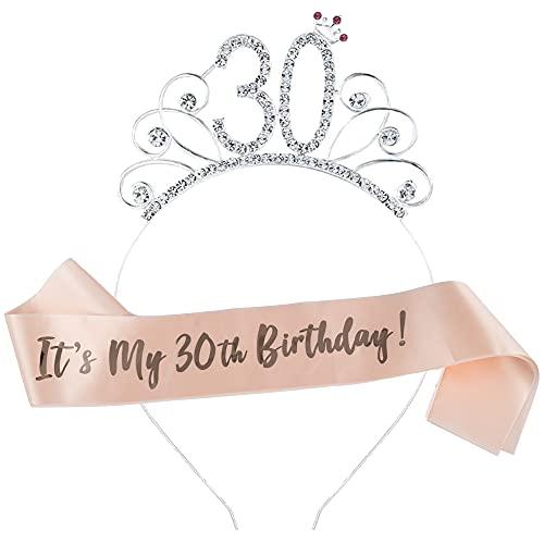 Ein Herz Lt's My - Corona de cumpleaños para mujer o niña, color oro rosa