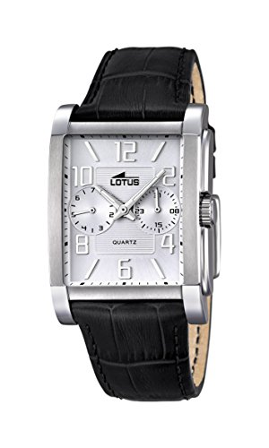 Lotus Herren Analog Quarz Uhr mit Leder Armband 18221/1