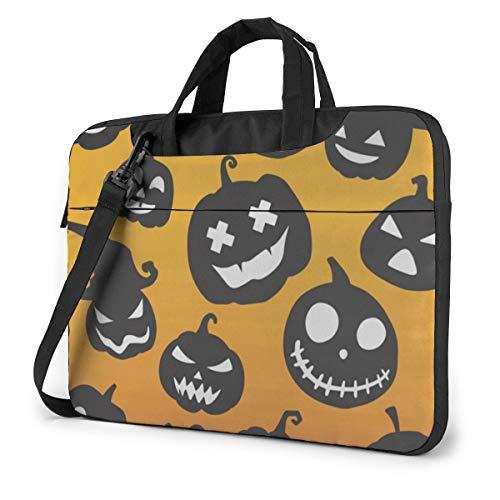 Halloween Pumpkin Set 15.6' Laptop Case Sleeve Briefcase Computer Shoulder Bag W/Strap