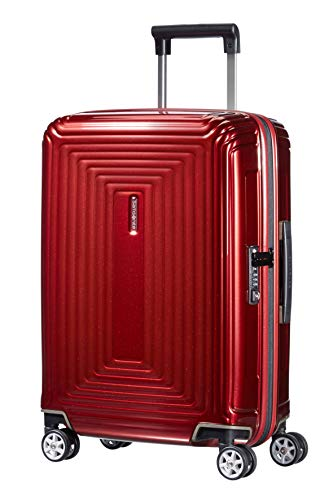 Samsonite Neopulse Spinner 55/20 Bagaglio a Mano, Policarbonato, Métallique Rouge, 38 ml, 55 cm