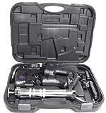KCHEX18 VOLT CORDLESS GREASE GUN 10 000 PSI WITH 2PC 18V BATTERIES 42' FLEXIBLE HOSEFLEXIBLE 42'...