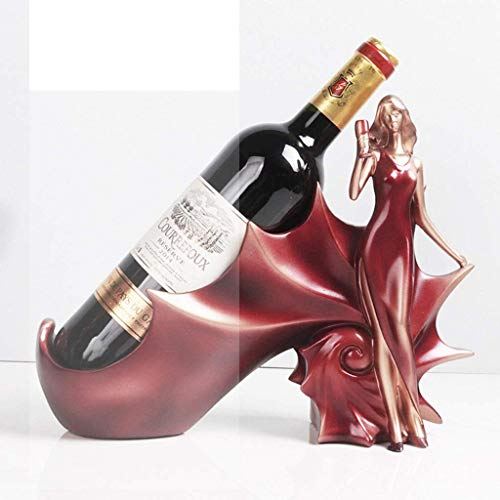 COLiJOL Soporte para Vino de Concha Estante para Vino Estante Escultura de Resina Práctica Decoración Del Hogar Estante para Manualidades