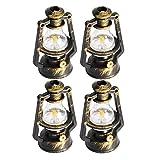 Casa de muñecas Linterna Miniatura Retro Kerosene Lámpara Dummy Kerosene Light Decor Craft 4pcs Dollhouse Accesorios