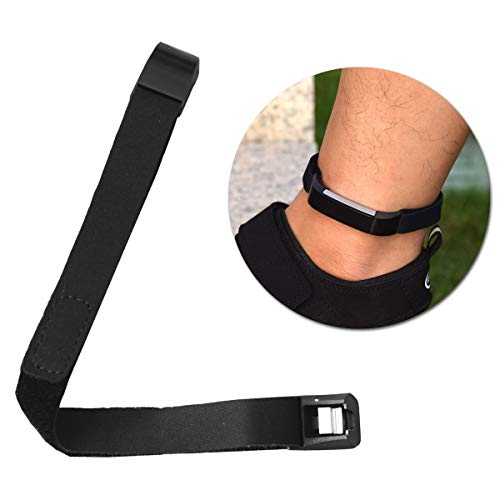 DDJOY Compatible Accessory Replacement for Fitbit Alta/Alta HR Ankle Band, Ankle Band for Fitbit Alta/Alta HR (Black)
