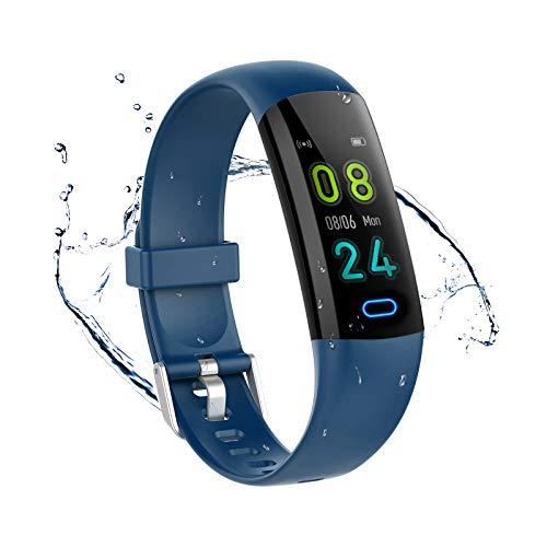 YoYoFit, Fitness Tracker per bambini con cardiofrequenzimetro, orologio fitness impermeabile IP68, contapassi, braccialetto fitness con monitoraggio del sonno, tracker attività per uomo e donna