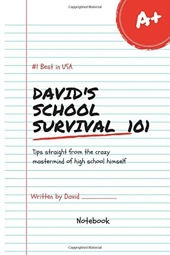 David's School Survival Lol Best in USA Notebook Journal 120 Lined pages 6x9 (Notebook name, Band 1)