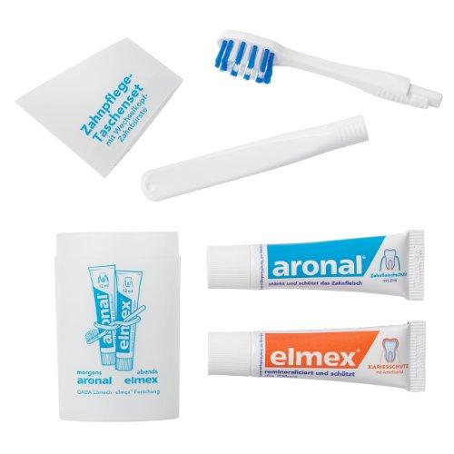 Elmex Zahnpflege-Taschenset (Reise-Zahnbürste und Zahnpasta) weiß 1 Stück
