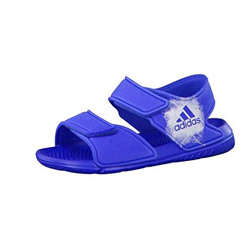 adidas Unisex-Kinder Altaswim C Hallenschuhe, Blau (Blue/Footwear White/Footwear White), 32 EU