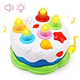 Amy&Benton Kids Birthday Cake Toy for Baby & Toddlers with Counting Candles & Music, Gift Toys for 1...