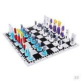 Cxcdxd Juego de Damas 2 Piezas de ajedrez Internacional y Tablero...